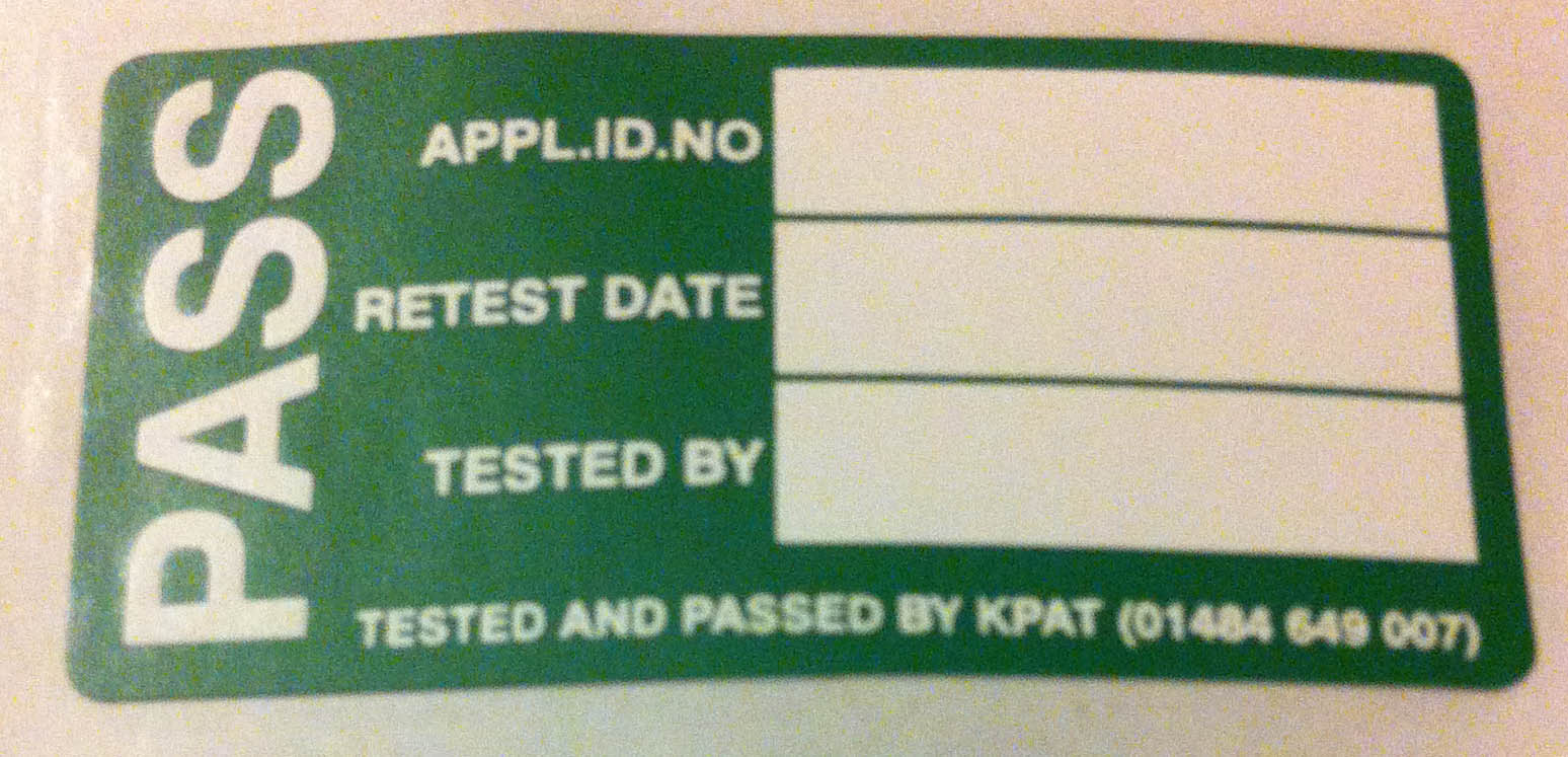 PAT Testing Sticker